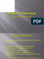 Power of Removal & Control (Executive Department)