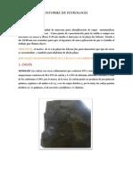 Informe de Petrologia