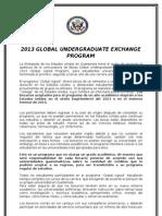 Global Undergraduate - Flyer 2013 Xela