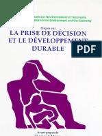 Propos sur la prise de décision et le développement durable