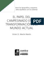 El Papel Del Campesinado en La Transformacion Del Mundo Atual -- Victor Martin Martin