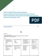 Annales corrigées Contrôleur des Douanes et des Droits Indirects  Branche 2011