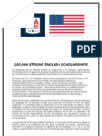 English Scholarships for Graduate Students - 1000000 Strong, Flyer 2012