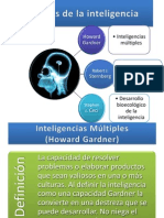 Teorías de la inteligenciagardnersternbergceci