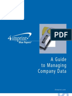 A Guide to Managing Your Company's Data by promotional products retailer 4imprint