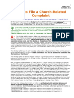 How to File a Church-related Complaint With Your Bishop