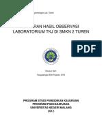 Laporan Hasil Observasi Laboratorium Teknik