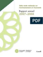 Rapport annuel de la TRN 2007-2008