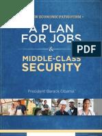 Obama Jobs Plan Booklet 2012