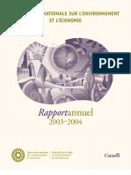 Rapport annuel de la TRN 2003-2004