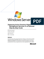 Deploying Active Directory Rights Management Services in an Extranet Step-By-Step Guide