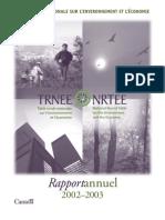 Rapport annuel de la TRN 2002-2003