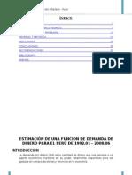 Demanda de Dinero Para El Peru(Emf)