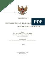 Law No. 4 of 2009 Mineral and Coal Mining, as annotated (Wishnu Basuki)