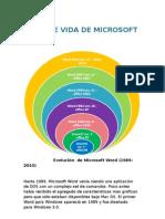 Evolucion de Microsoft Word