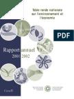 Rapport annuel de la TRN 2001-2002