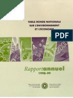 Rapport annuel de la TRN 1998-1999