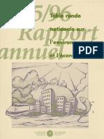 Rapport annuel de la TRN 1995-1996