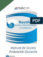 Manual de Evaluacion Docente sistema Nautilus