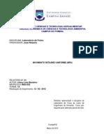 Laboratório de Física- Relatório MRU