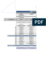 Emba Class Schedule - Fall 2012
