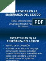 ESTRATEGIAS EN LA ENSEÑANZA DEL LÉXICO - Esther Espinoza