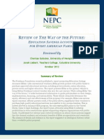Clarisse Gulosino and Jonah Liebert 2012_review of the Way of the Future, Education Savings Accounts for Every American Family