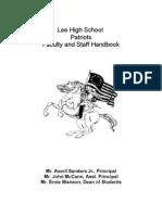 Lee High School Handbook[1][1][1][1]