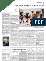 Zeitungsbericht Damen 1 vom 23. Oktober 2012
