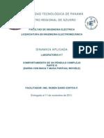 Lab7-DinamicaAplicada-COMPORTAMIENTO DE UN PÉNDULO COMPLEJO PARTE B