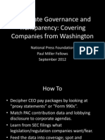 Covering Companies From Washington