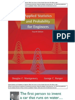 Applied Statistics and Probability for Engineers 4th Montgomery