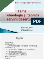 Tehnologia Si Tehnica Servirii Deserturilor