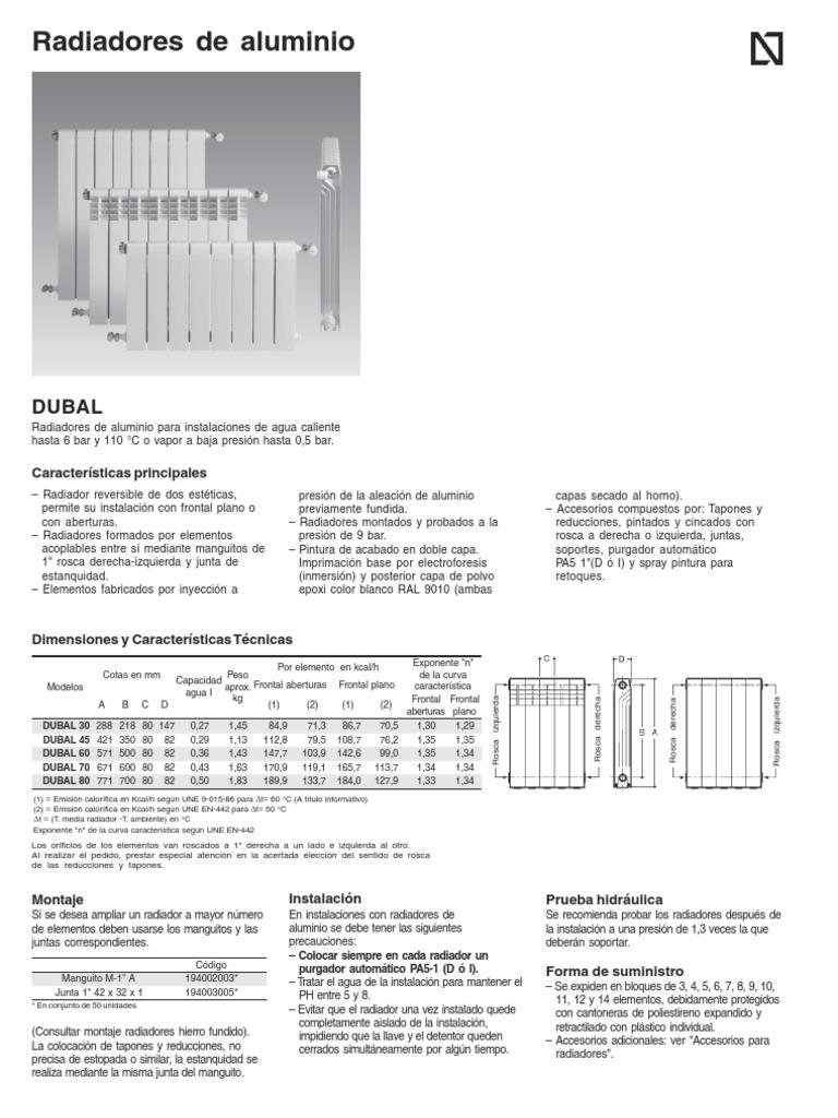 Roca radiadores general - Radiadores de aluminio ...