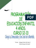programación 12-13 EI 4 años