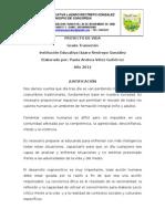 PROYECTO DE VIDA TRANSICIÓN 2012