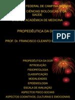 PROPEDÊUTICA DA DOR
