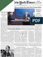 TheNewYorkTimes Tuesday October 23 2012