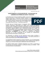 ONGEI promueve la socialización del Plan Nacional de Gobierno Electrónico en Tacna y Ayacucho