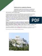 Reseña histórica de la ciudad de Atenas