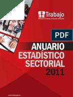 Anuario Estadístico Sectorial 2011 - Ministerio de Trabajo