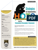 Strategies for Implementing HOTS (Higher Order Thinking Skills) into the Elementary and Secondary Classroom