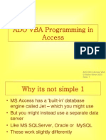 VBA Programming in Access