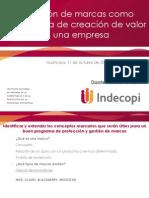 La Gestion de Proteccion de Marcas Como Herrramiento de Creacion de Valor (Promperu - Huancayo)