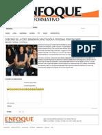 22-10-12 Enfoque Informativo - Gobierno de la Gente brindará capacitación a personal penitenciario