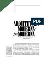 Arquitetura Moderna E Pós-Moderna - Juergen Habermas