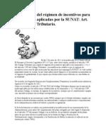 Eliminación del régimen de incentivos para infracciones aplicadas por la SUNAT
