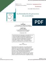 Formulacion de Proyectos en Acuicultura