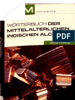 Worterbuch Der Mittelalterlichen Indischen Alchemie - Oliver Hellwig