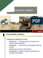Colocación consolidación y curado de concreto FGR
